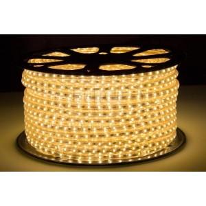LED pásek 230V 60ks 2835 6W/m silikon 1m TEPLÁ BÍLÁ